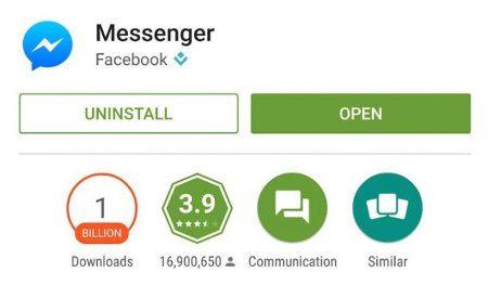 Facebook Messenger ya fue descargado más de 1000 millones de veces en Android