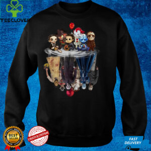 Cute Horror Movie Chibi Character Water Reflection Halloween T Shirt
