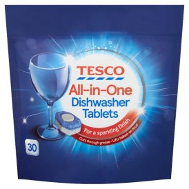 Tesco All In One Dishwasher Tablets Original 30'S