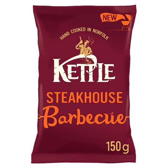 Kettle Chips Steakhouse Barbecue 150G