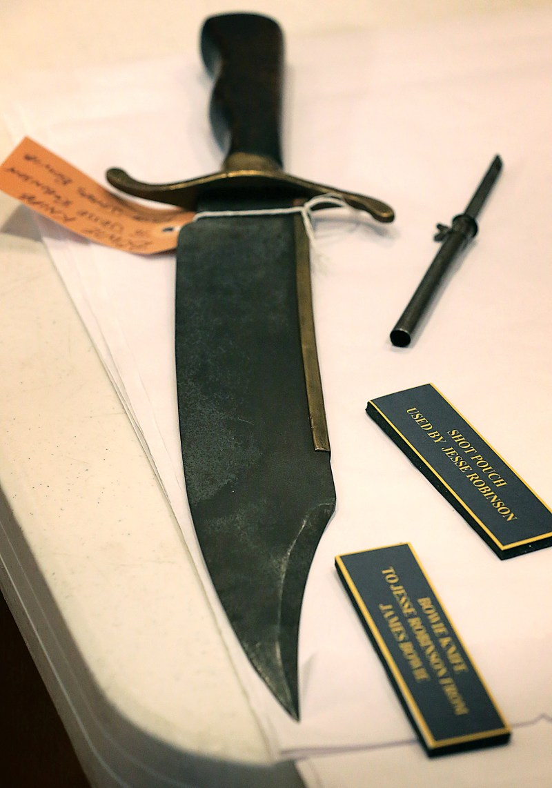 A Bowie knife that Phil Collins donated to the Alamo.