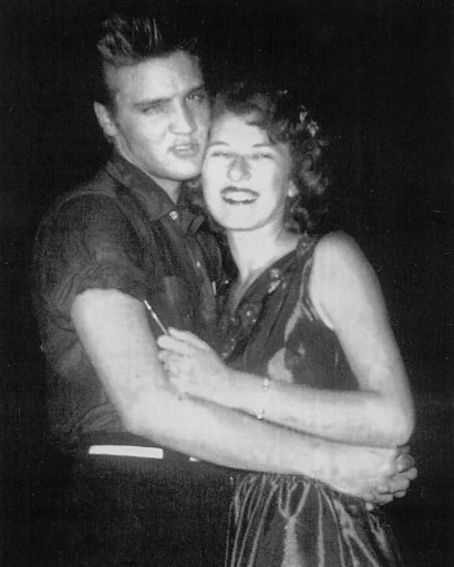 McCoy with Elvis on the night of the Louisiana Hayride performance in Conroe, August 24, 1955.