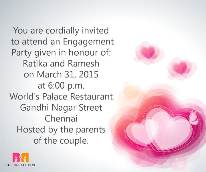 indian engagement invitation wording ideas
