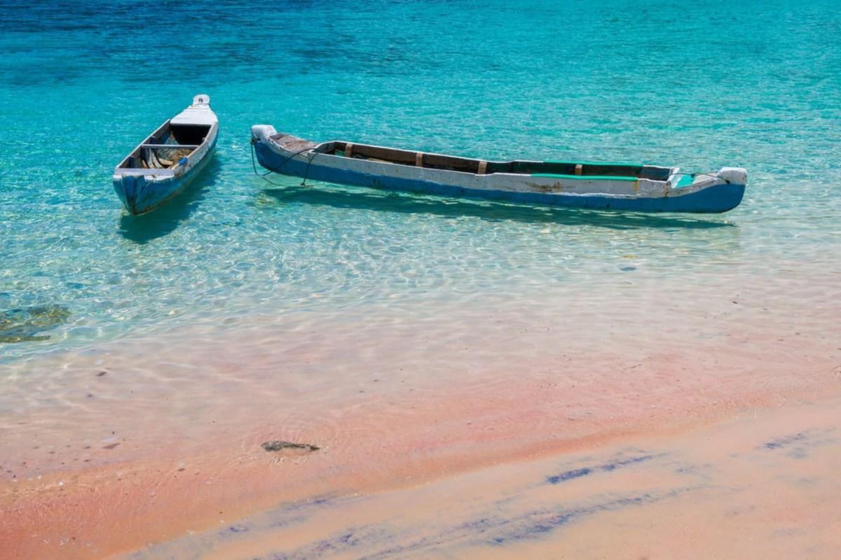 Pink beach, Komodo National Park, Indonesia.