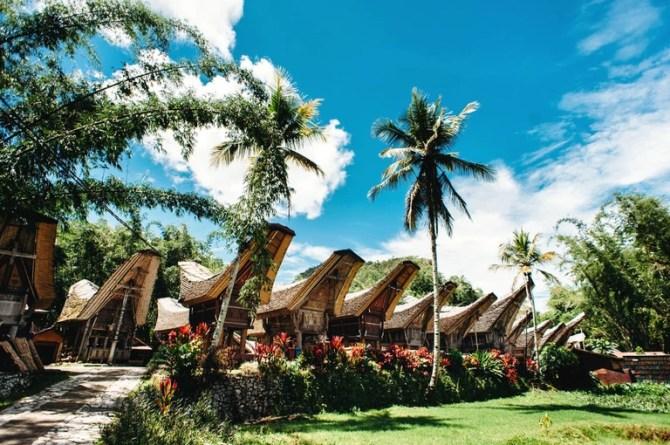 Traditional Tana Toraja village