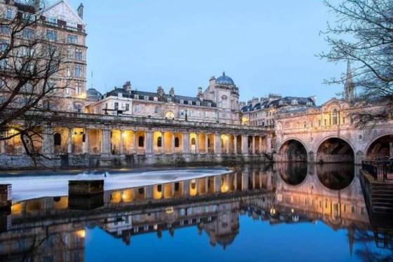 Bath's iconic weir