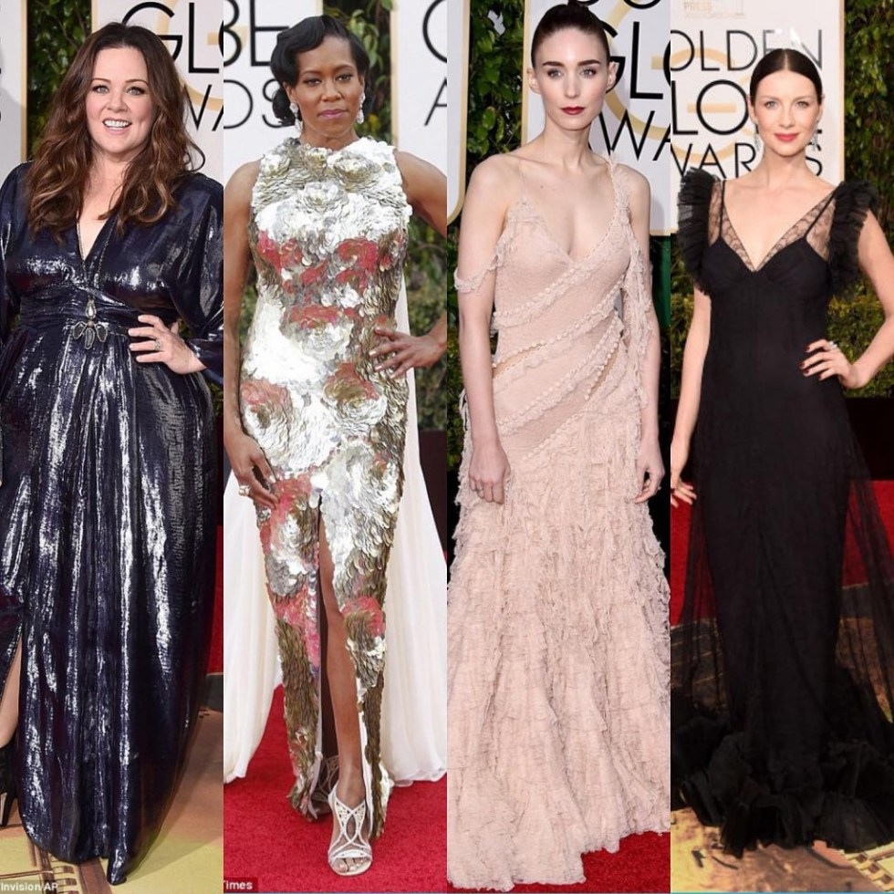 My top 4 #worstdressed women at the 2016 golden globe awards. There was more but these four were a complete eyesore