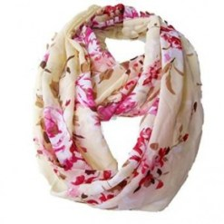 flowered scarf