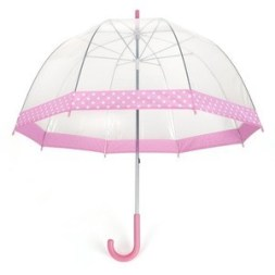 pink clear umbrella