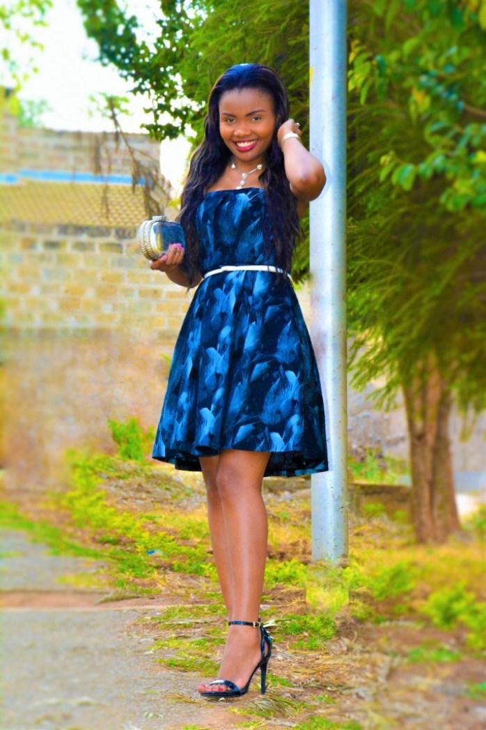 thrift jacquard a line dress