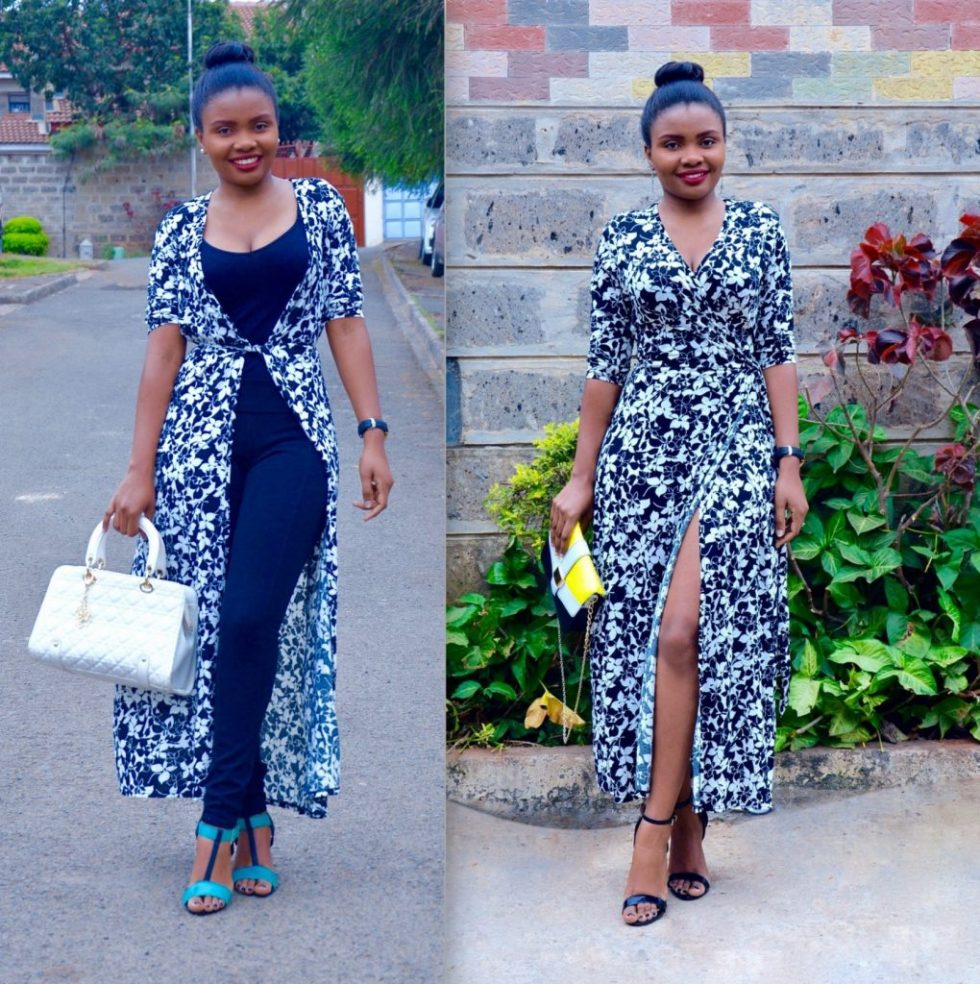 how to style a maxi wrap dress