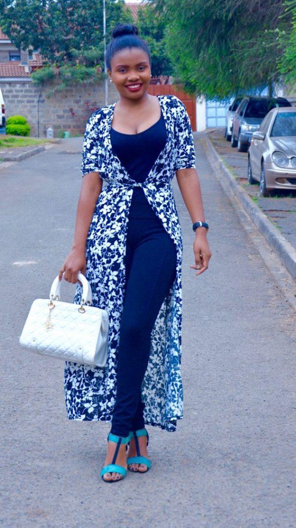 maxi wrap dress outfit 1