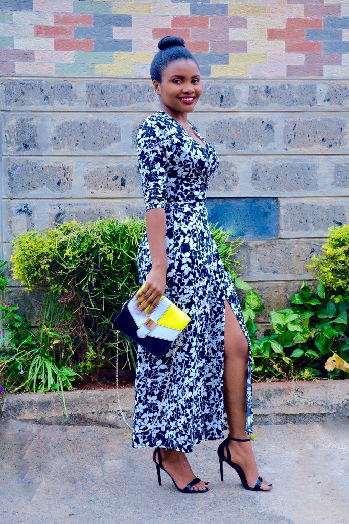 maxi wrap dress outfit 2