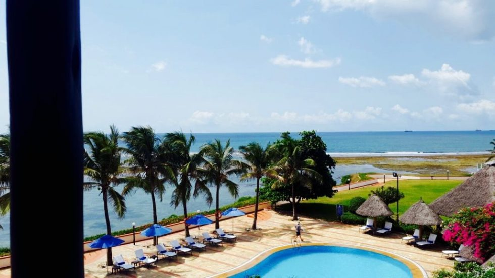 View from the room at Sea Cliff , Dar es Salaam