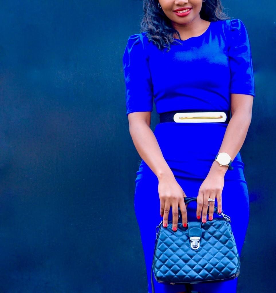 blue dress office wear 3