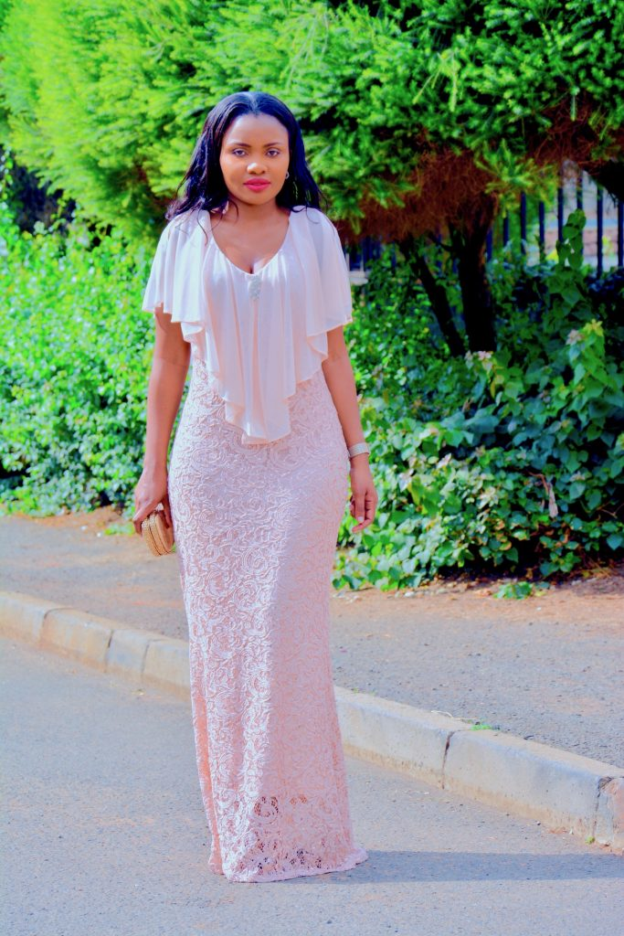 blush pink gown