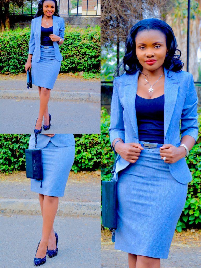FigureStyle Boutique grey skirt suit