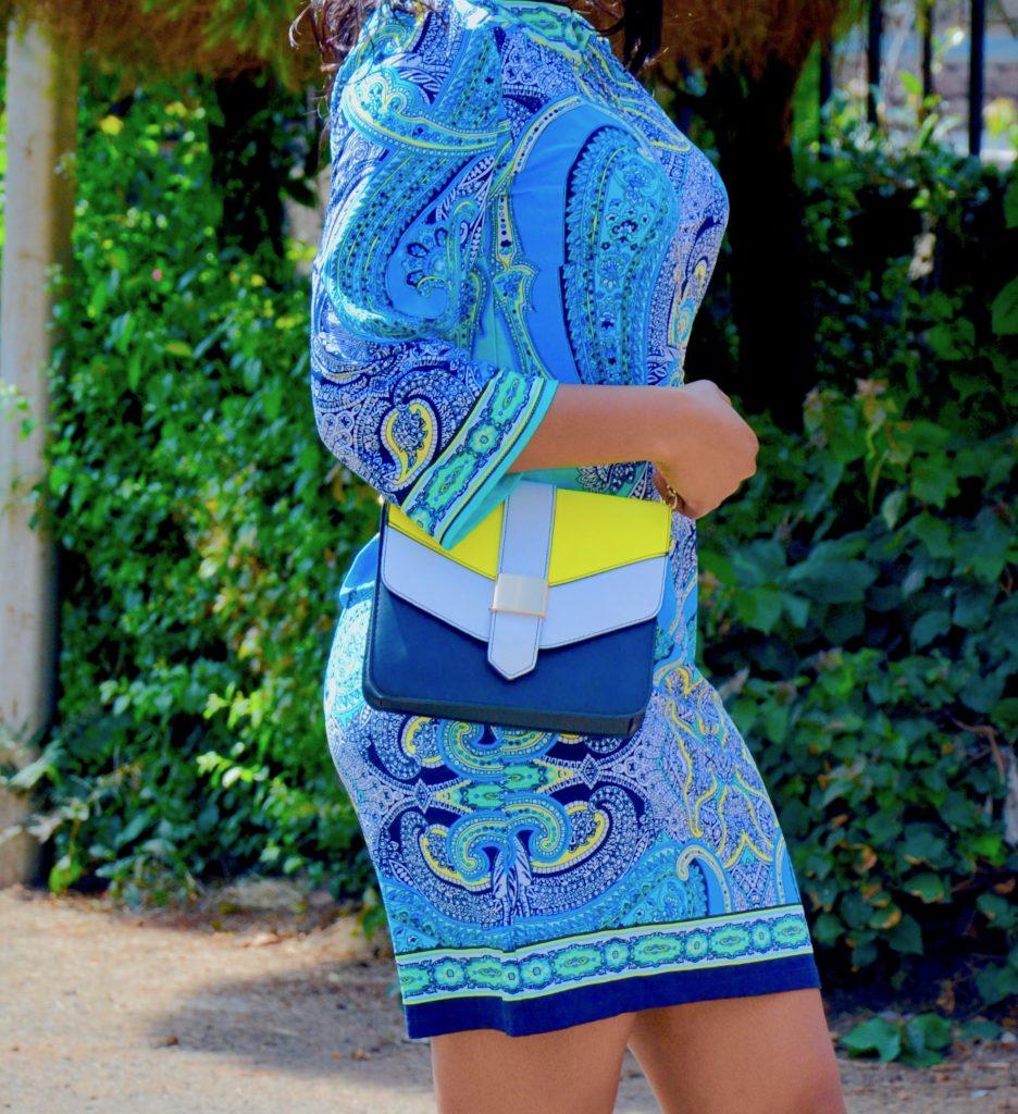 tribal print shift dress