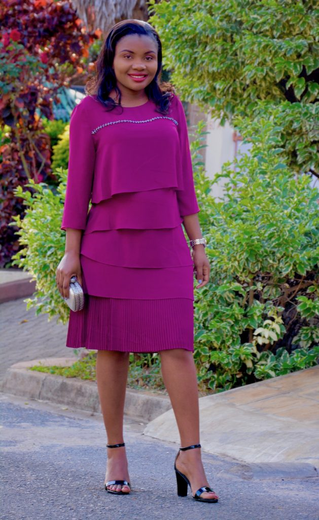 magenta dress holiday dress