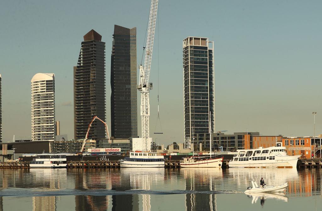 High-rise blocks in Melbourne Victoria