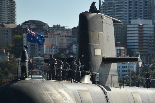 Australia awarded the main contract on April 2016 to French contractor DCNS to design and build its next generation submarines to replace its existing fleet of six Collins-class ships.  The new submarines will be a conventionally powered version of France's 4,700-ton nuclear-fueled Barracuda.  (Peter Parks/AFP/Getty Images)