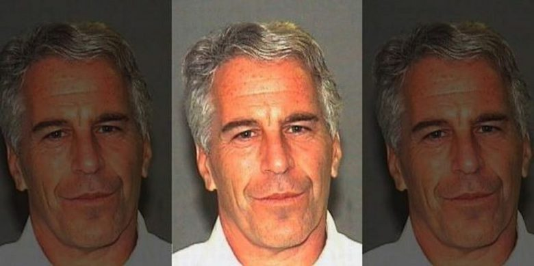 Jeffrey Epstein in a booking photograph