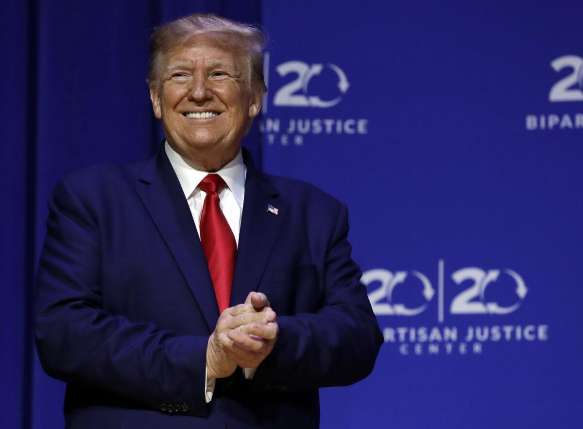 trump gets justice reform award