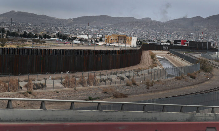 The U.S.-Mexico border wall is seen in El Paso, Texas, on Feb. 10, 2019. Joe Raedle/Getty Images