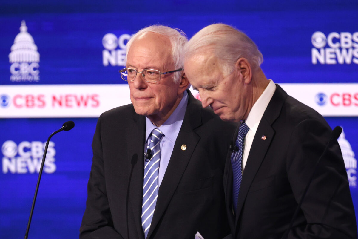 Sen. Bernie Sanders and former Vice President Joe Biden