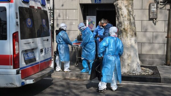 Medical staff in protective clothes