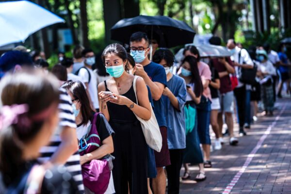 Hongkongers waiting to vote
