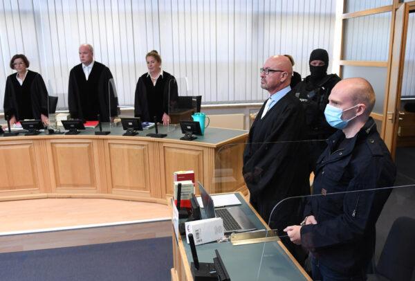 Stephan Balliet and his lawyer Hans-Dieter Weber
