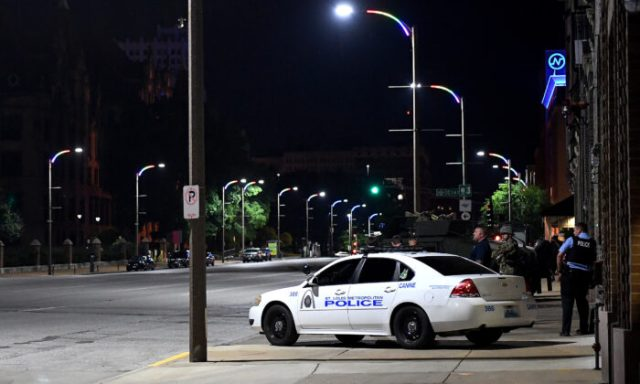 St. Louis City Police officers patrol in St Louis on June 2, 2020. (Michael B. Thomas/Getty Images)
