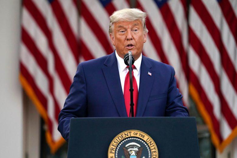 Trump speaks in the Rose Garden
