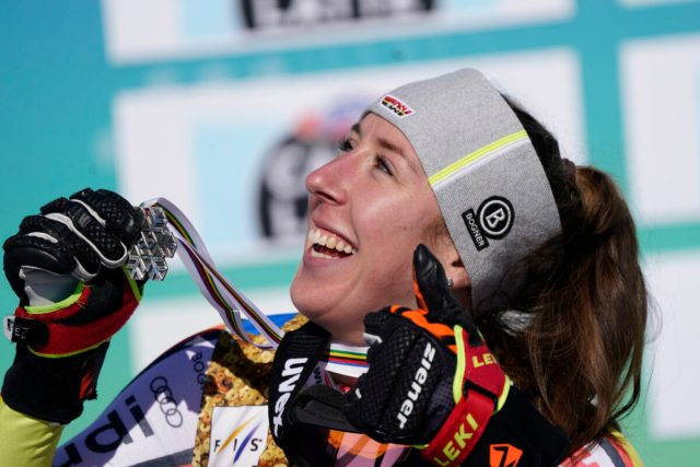 Silver medal Germany's Kira Weidle