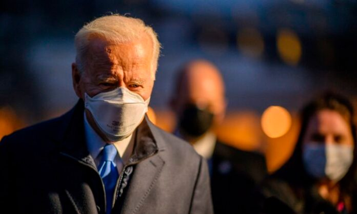 President Joe Biden leaves the White House to spend the weekend in Camp David, in Washington on Feb. 12, 2021. (Eric Baradat/AFP via Getty Images)