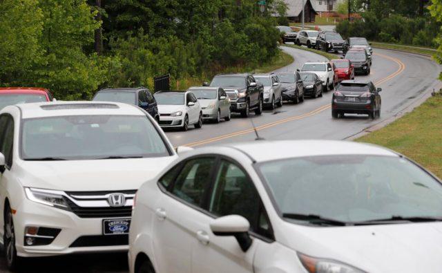 cars line up