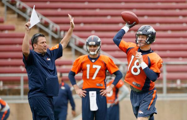 The quarterback coach Greg Knapp