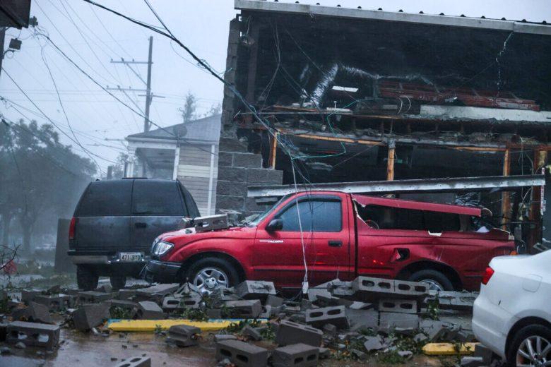 Vehicles are damaged