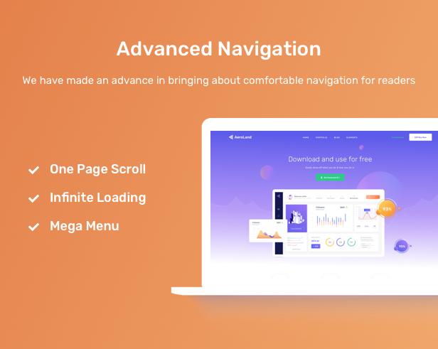 AeroLand - Responsive App Landing and Website WordPress Theme - 17