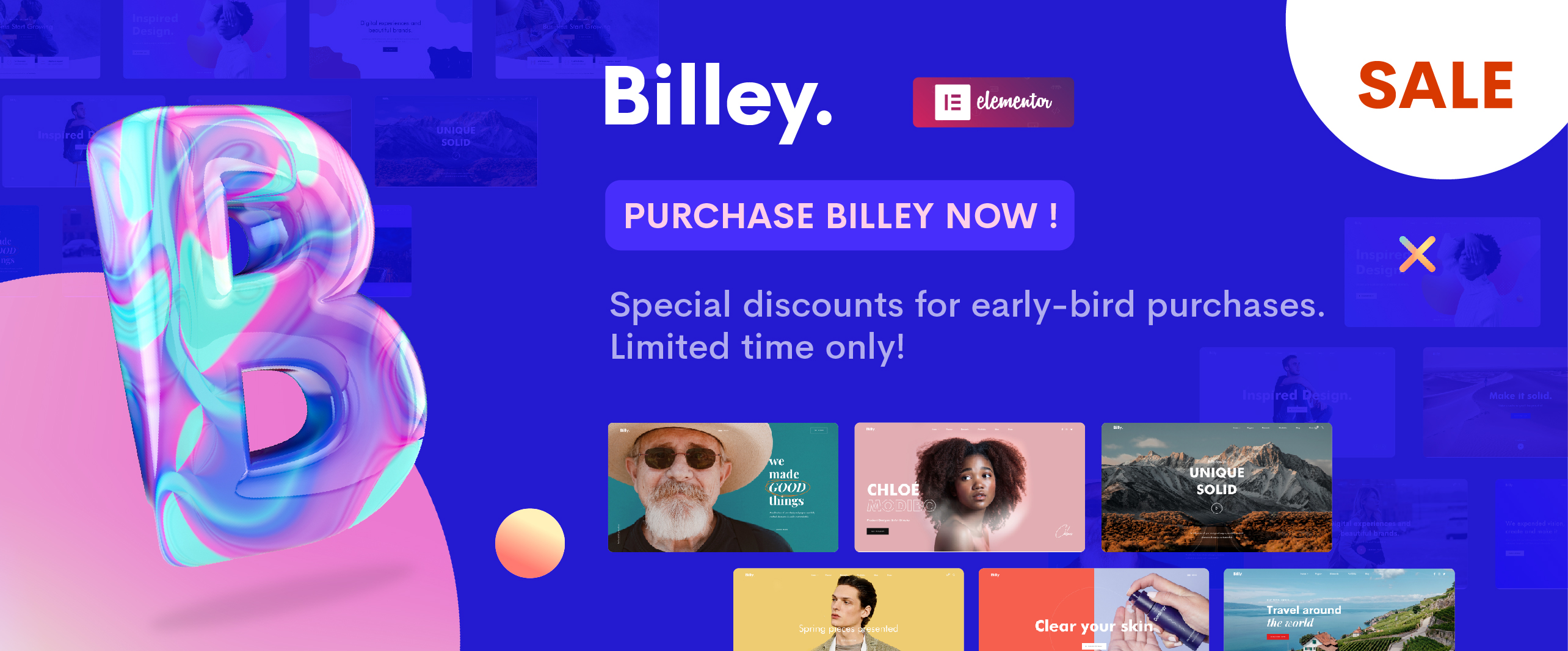 Billey - Creative Portfolio & Agency Elementor WordPress Theme - 10