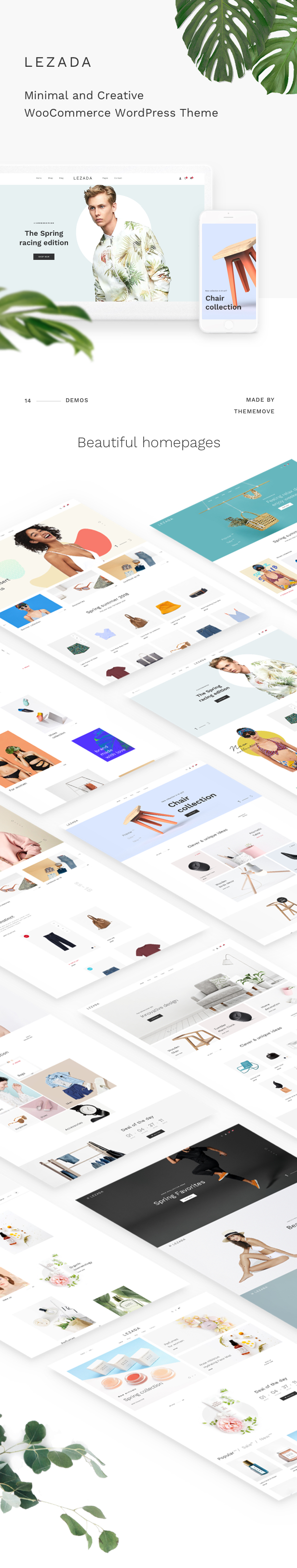 Fashion WooCommerce WordPress Theme - beautifully crafted Homepages
