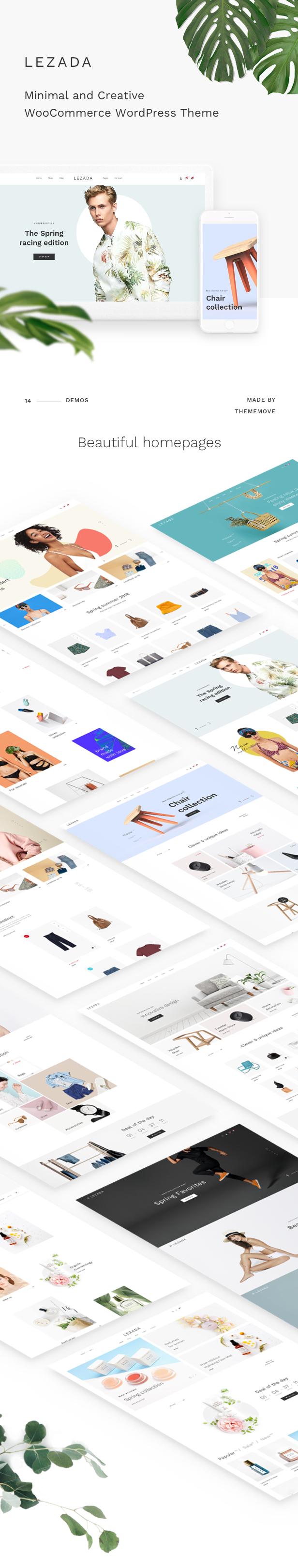 Lezada - Minimum & Creative WooCommerce WordPress Theme