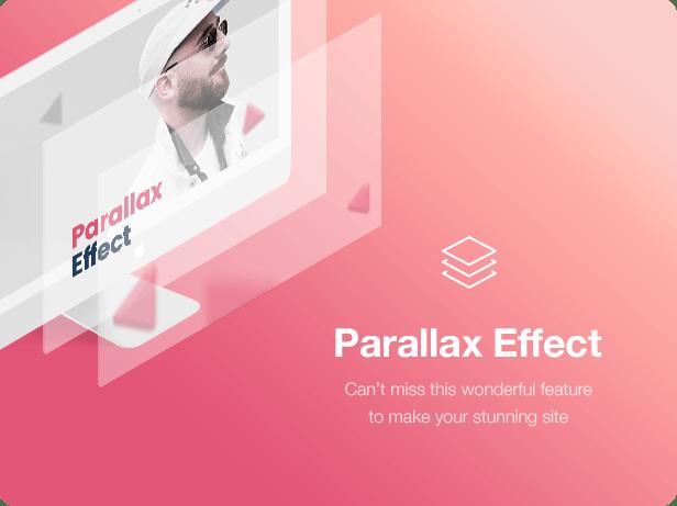 Interior Design WordPress Theme - Parallax Effect