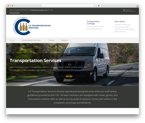Prosperity best WordPress theme - c3transports.com