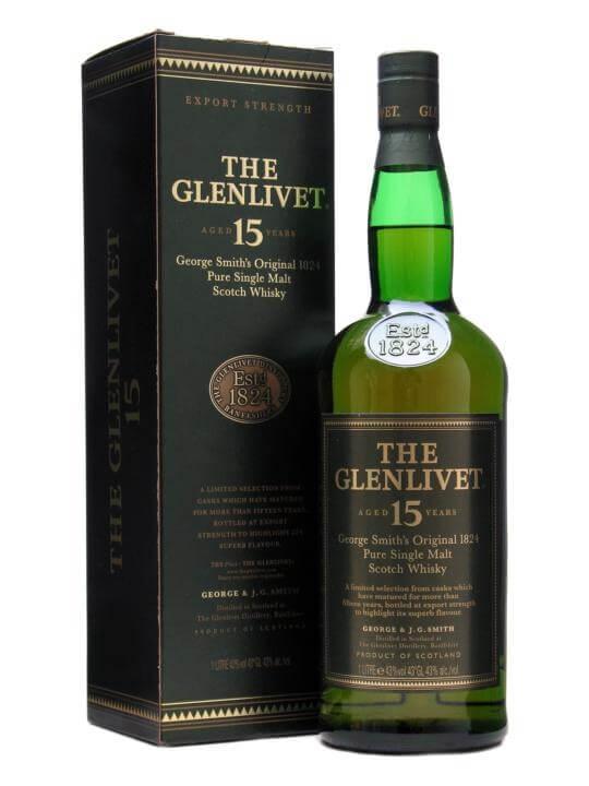 Glenlivet 15 Year Old 1L Scotch Whisky The Whisky Exchange