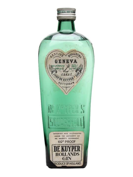 De Kuyper Geneva Hollands Gin Bot1960s The Whisky
