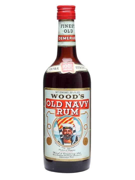 Woods Old Navy Rum 100 Proof Bot1970s Buy From