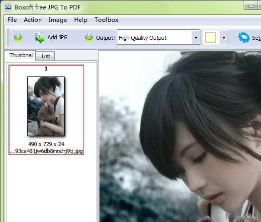 Boxoft Free JPG to PDF Converter Portable - ThinstallSoft.com