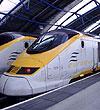 Eurostar trains at platform